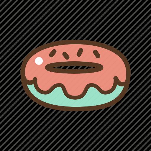 dessert, donut, doughnut, fried dough, sweet icon