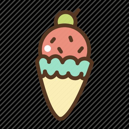 cone, dessert, food, ice cream, sweet icon