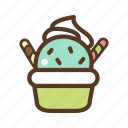 bowl, dessert, food, ice cream cup, sweet icon