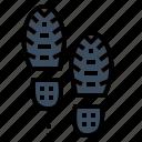 body, footprint, people, shoe