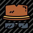 clothing, detective, hat, men icon