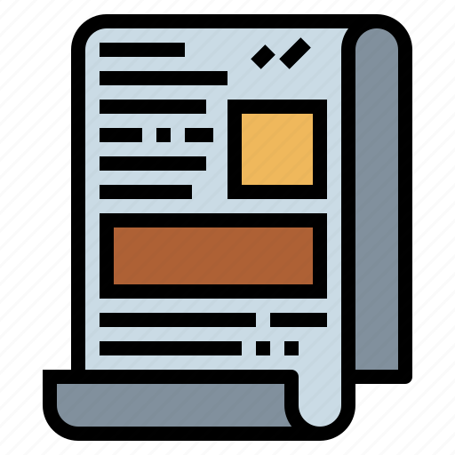 Communications, journal, news, newspaper icon - Download on Iconfinder
