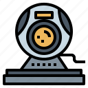 call, camera, technology, video, webcam icon