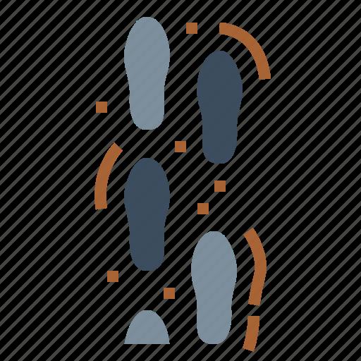 follow, footprints, footsteps, shape icon
