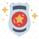 badge, police, security, shield, weapon icon