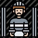arrested, criminal, custody, handcuffed, prisoner icon
