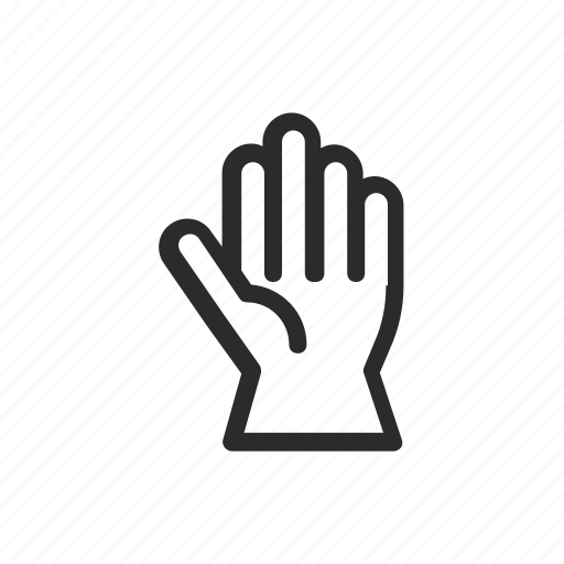 finger print, gloves, hand icon