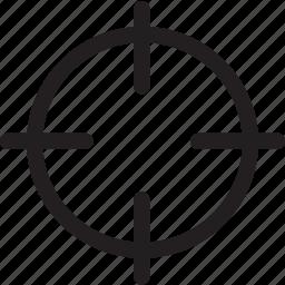 aim, bullseye, circle, crosshair, target icon