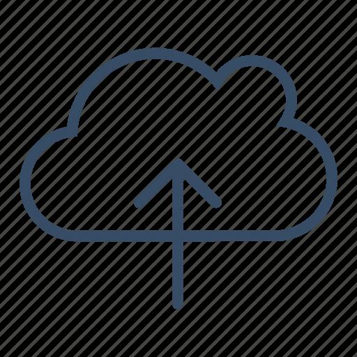 cloud, cloud upload, data, service, storage, transfer, upload icon