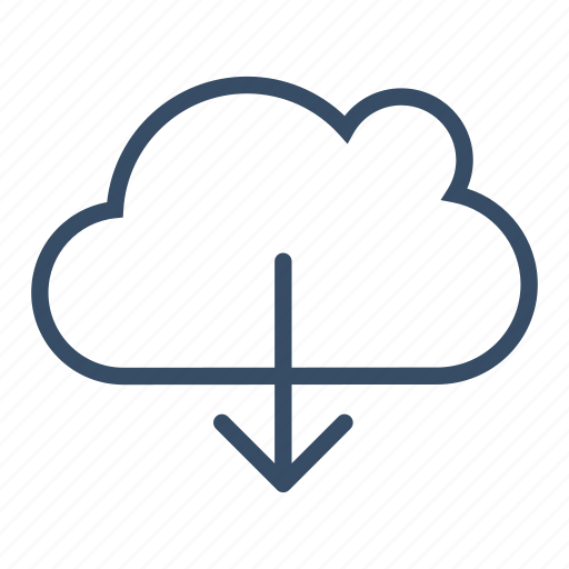 cloud, cloud download, data, download, service, storage, transfer icon