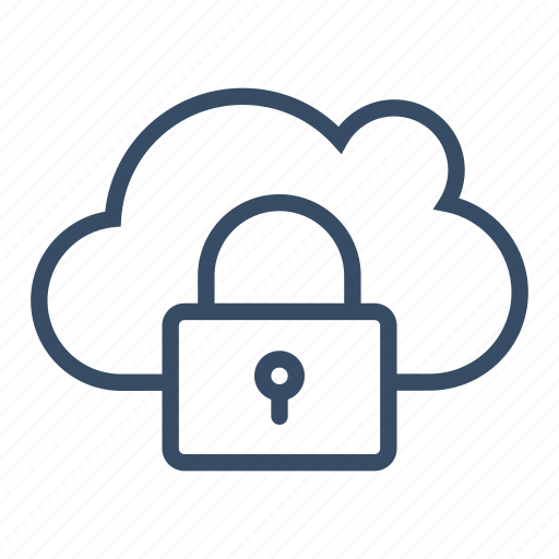 communication, locked, padlock, protected, secure, secured cloud, service icon