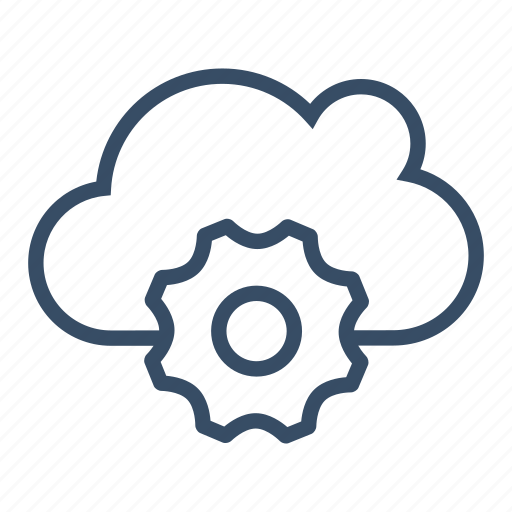 cloud, cloud configuration, configuration, gear, options, preferences, setting icon
