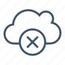 clear, clear cloud, cloud, delete, remove, server, service icon