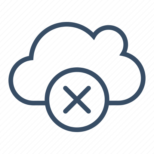clear, clear cloud, cloud, delete, remove, server, service icon