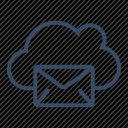 cloud, cloud mail, communication, mail, message, service, storage icon
