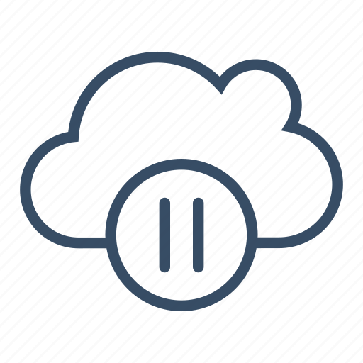 cloud, cloud pause, media, pause, service, streaming icon