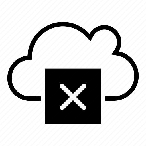 cloud, defect, error, fault, mistake, notification, service icon