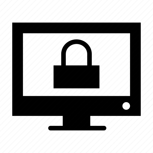 computer, lock, padlock, password, pc, protected, security icon