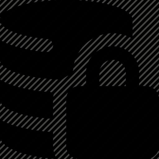 database, lock icon
