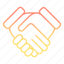 agreement, contract, deal, development and startup, handshake icon