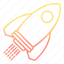development and startup, launch, rocket, space, startup icon