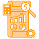 development, diagram, financial, graph, report, startup icon
