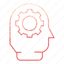 brainstorm, development, gear, idea, startup icon