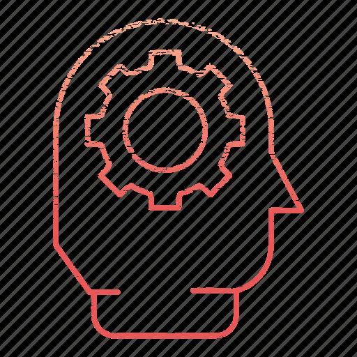 brainstorm, development, gear, idea, startup icon
