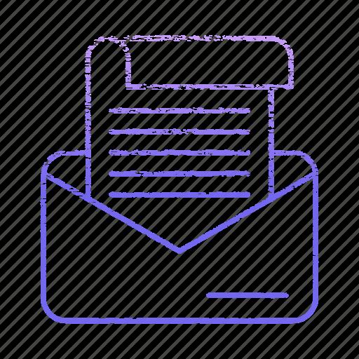 correspondence, development, message, startup icon