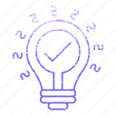development, idea, innovation, lamp, startup icon