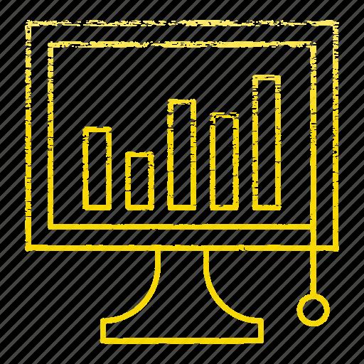analysis, development, diagram, graph, market, startup icon