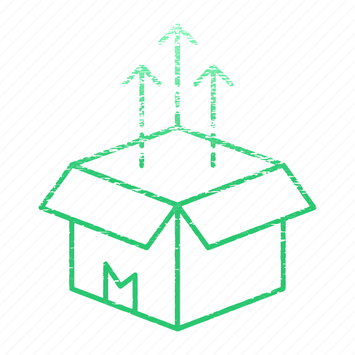 box, delivery, development, product, release, startup icon