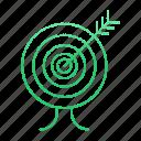 development, goal, startup, target icon