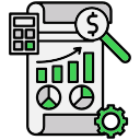 analysis, analytics, finance, financial, report icon