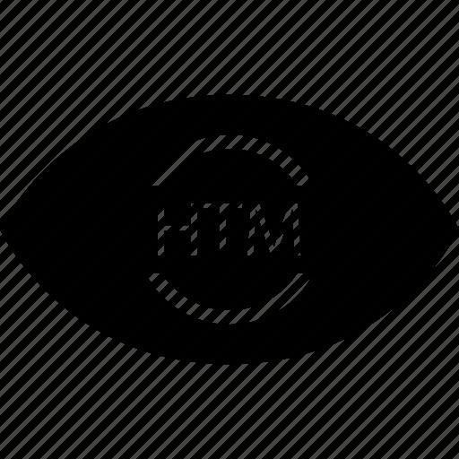development, eye, htm, web icon