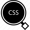 css, development, find, web icon
