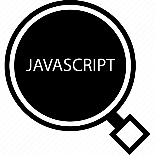 find, javascript, web icon
