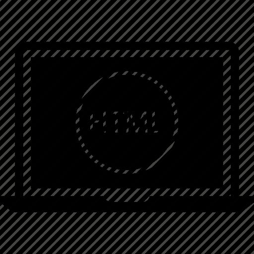 code, html, programming, web icon