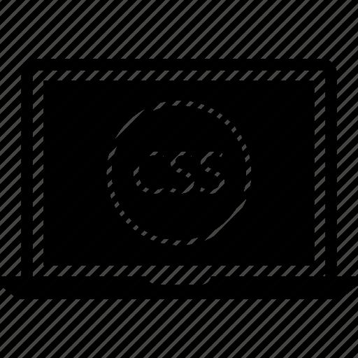 css, laptop, web icon