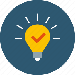 adjudicate, advice, advise, advising, assumption, bulb, concept, consult, consulting, creative, decision, evidence, expedient, idea, implement, innovation, insight, lamp, light, potential, prototype, ready, realize, solve, tip, use case icon