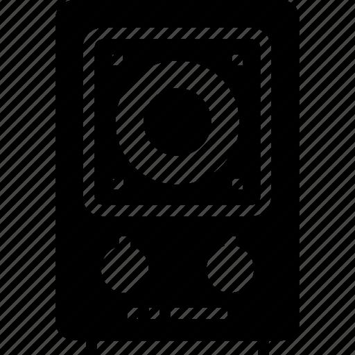 audio speaker, device, multimedia, music, music speaker, speaker, technology icon icon