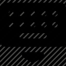 down, keyboard icon