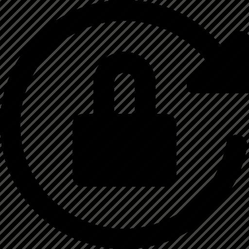 lock, rotation icon