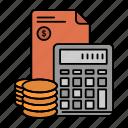 accumulation, business, calculator, coins, debt, investment, savings