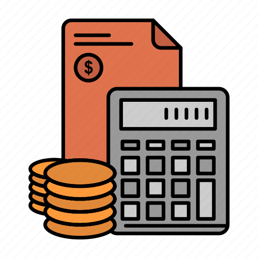 accumulation, business, calculator, coins, debt, investment, savings icon