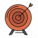aim, archive, business, goal, mission, success, target icon