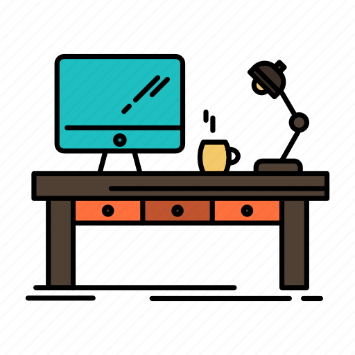 Business, computer, desk, lamp, office, table, workplace icon - Download on Iconfinder