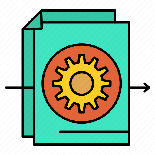 Document, file, gear, settings icon - Download on Iconfinder