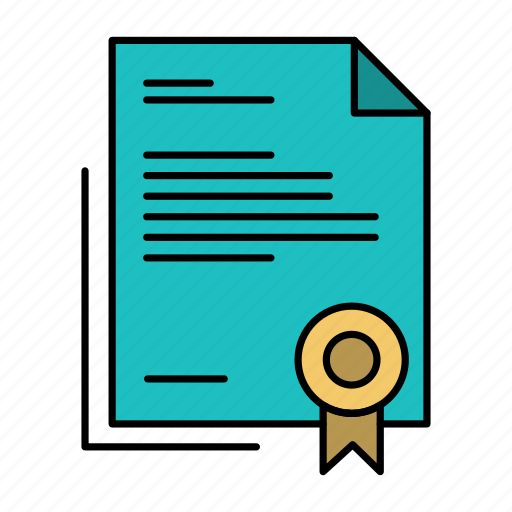 business, certificate, diploma, document, legal, letter, paper icon