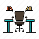 business, chair, computer, desk, office, place, table, work icon